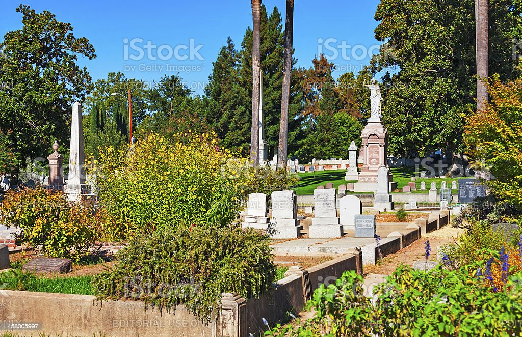 Old City Cemetary Views royalty-free stock photo