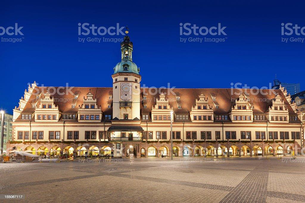 Old City Hall Leipzig Altes Rathaus Saxony Germany royalty-free stock photo
