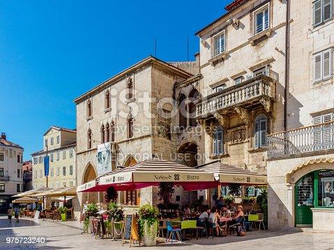 Split, Split-Dalmatia county. Old City Hall, National square.