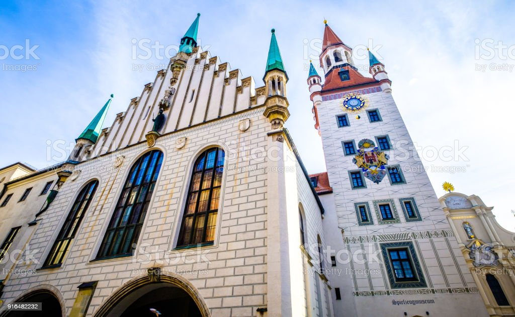 old city hall of munich stock photo
