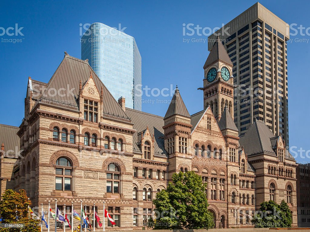 Old City Hall of Toronto stock photo