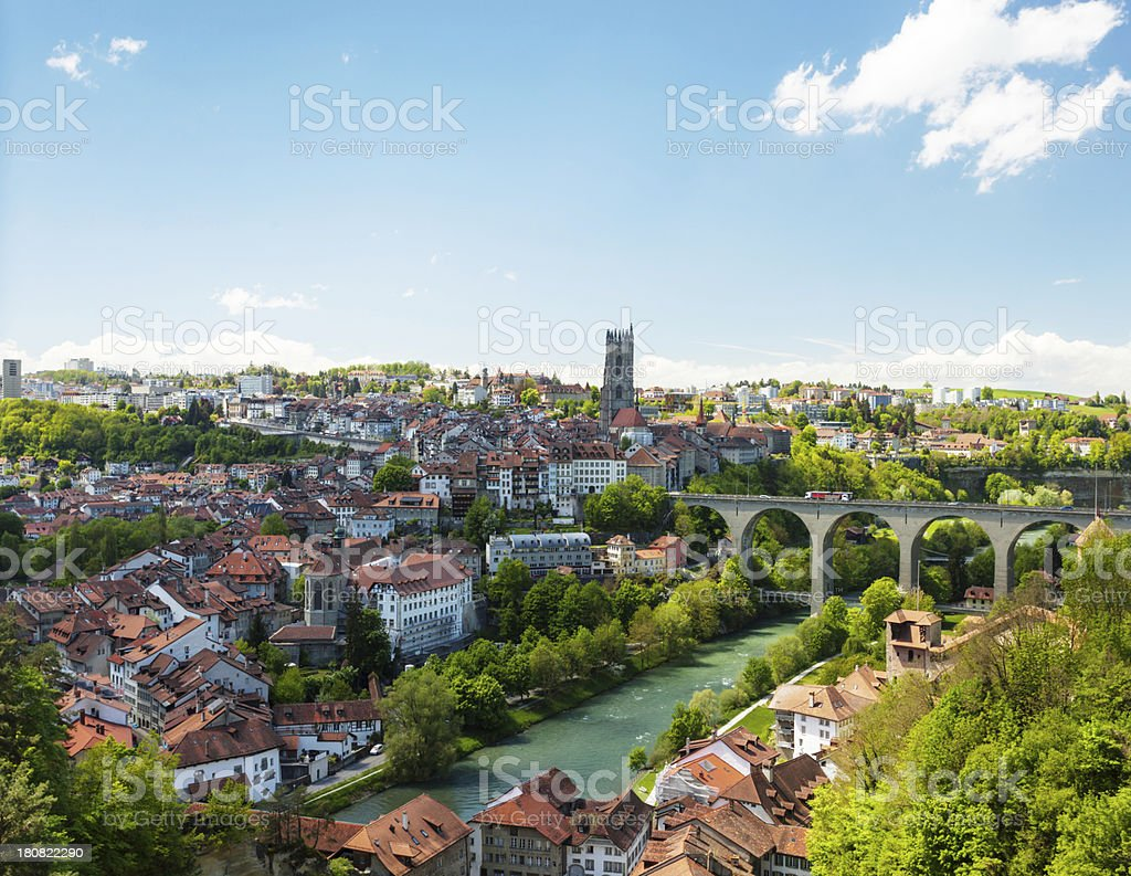 Old city in central Switzerland stock photo