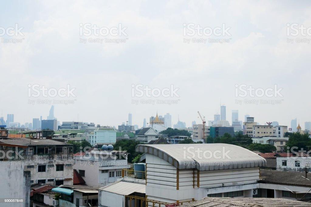 Old city landscape in Bangkok. stock photo
