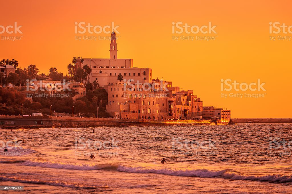 Old city martian landscape stock photo