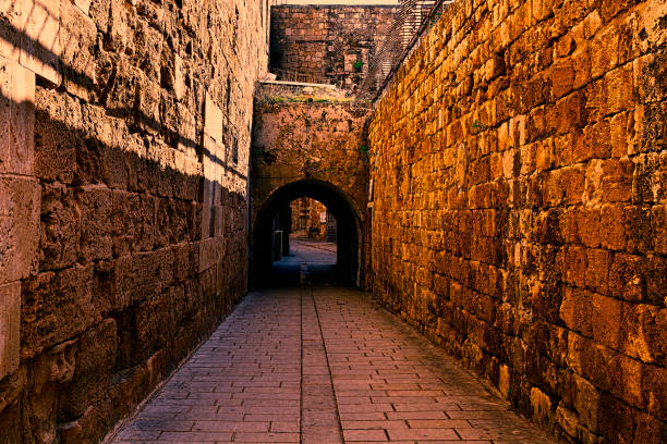 Old City of Akko in Israel. stock photo