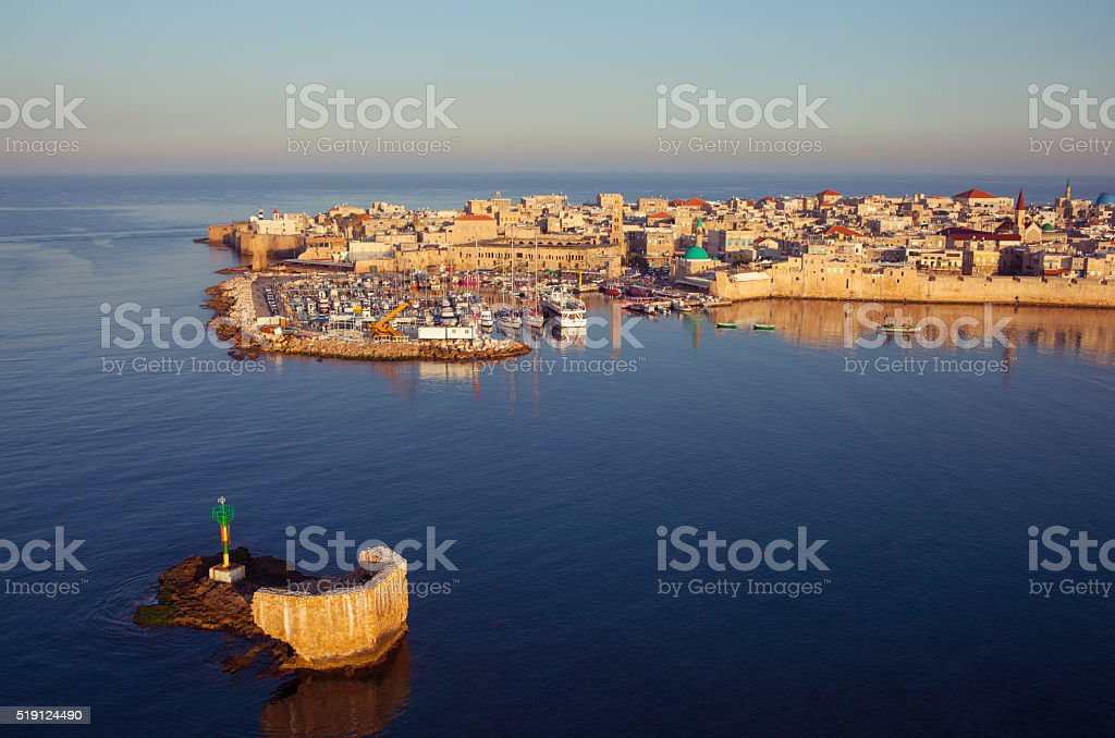 Old city of Akko, Israel. stock photo