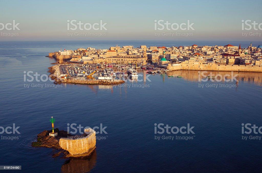 Old city of Akko, Israel. stock photo