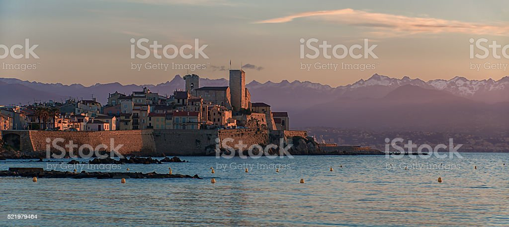 Old city of Antibes stock photo