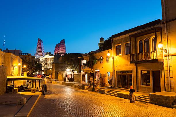 Old city of Baku stock photo