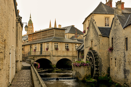 Old city of Bayeux in France