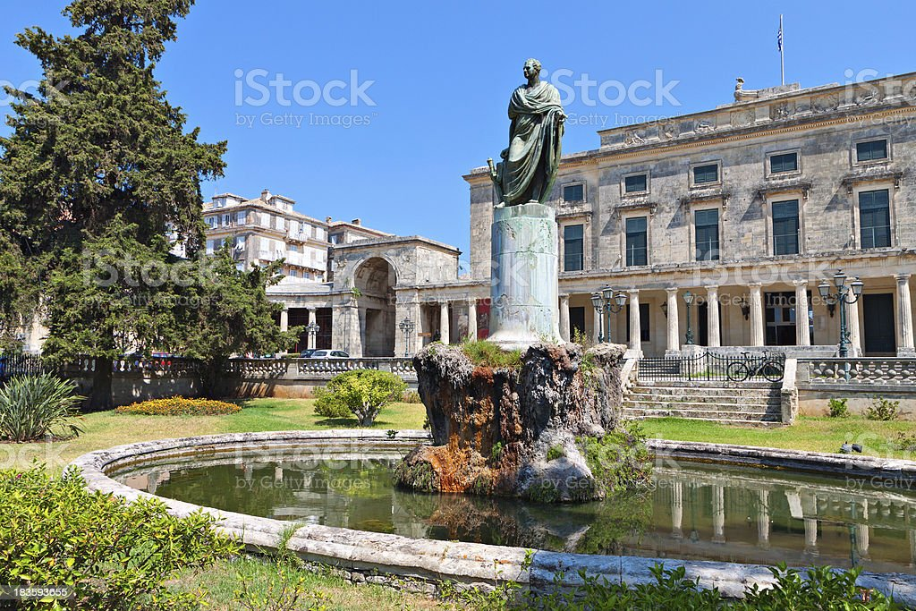Old city of Corfu island in Greece royalty-free stock photo