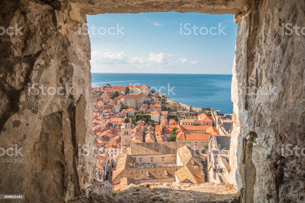 Old city of Dubrovnik in Croatia stock photo