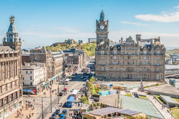 Old city of Edinburgh Edinbugh princes street edinburgh stock pictures, royalty-free photos & images