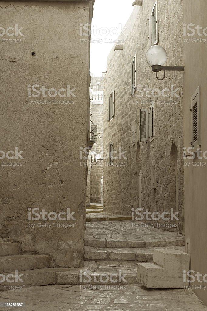 Old city of Jaffo in Tel Aviv stock photo