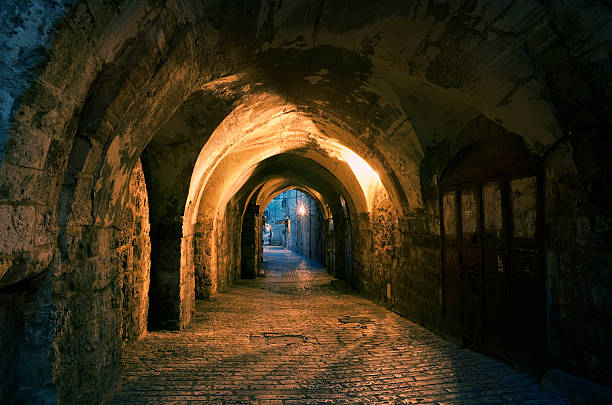 Old city of Jerusalem in twilight  jerusalem old city stock pictures, royalty-free photos & images