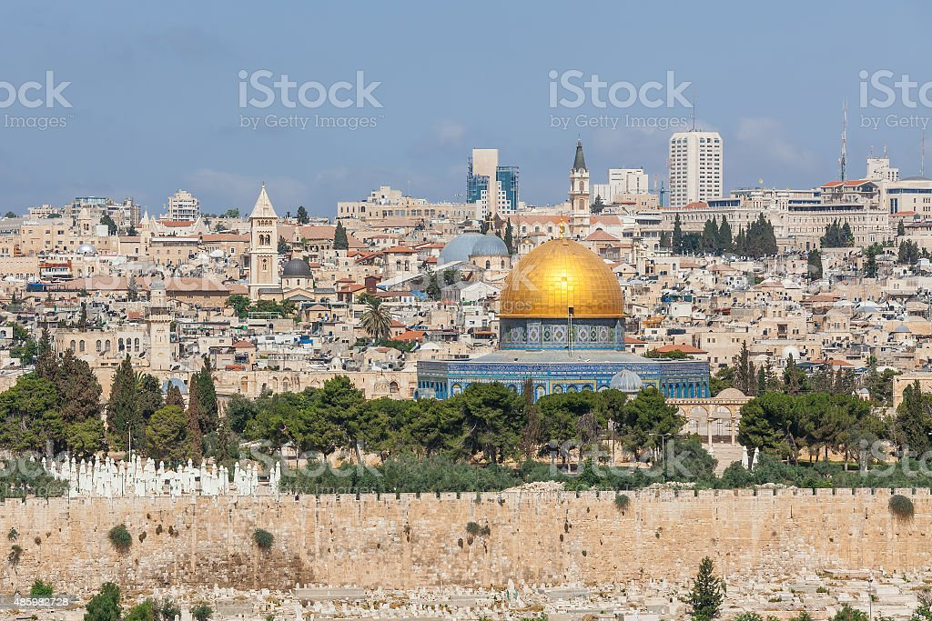 Old city of Jerusalem, Israel. stock photo