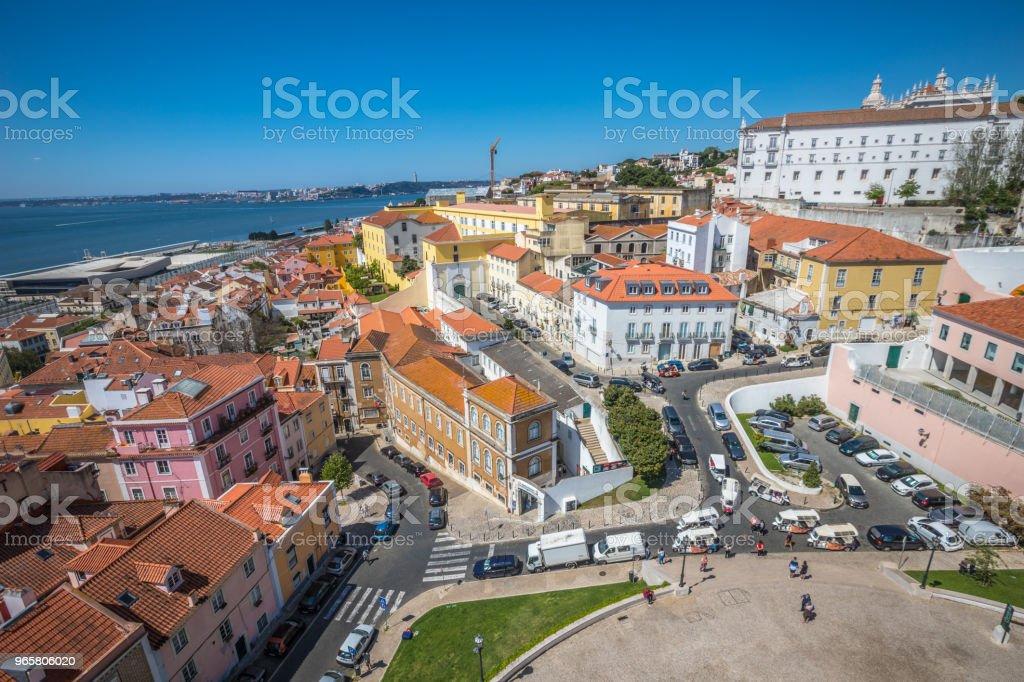 Oude stad van Lissabon - Royalty-free Architectonisch element Stockfoto