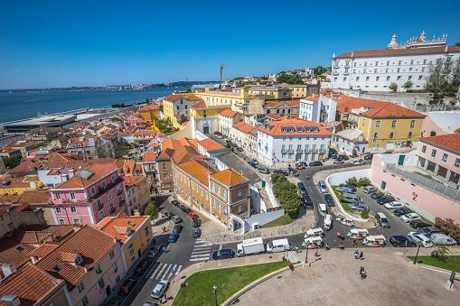 Oude Stad Van Lissabon Stockfoto en meer beelden van Architectonisch element