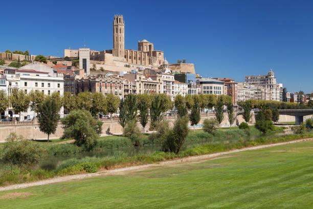 old city of lleida - lleida стоковые фото и изображения