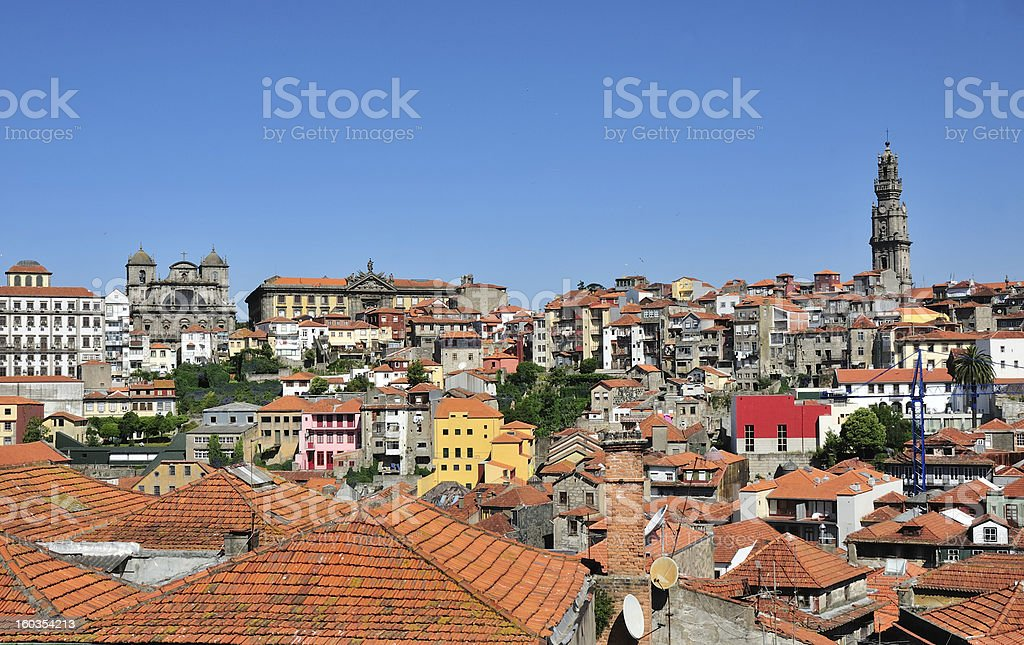 Old city of Porto in Portugal royalty-free stock photo
