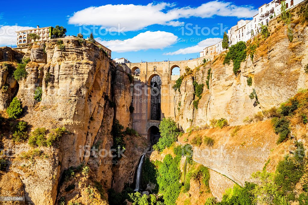 Old city of Ronda, Malaga, Spain stock photo