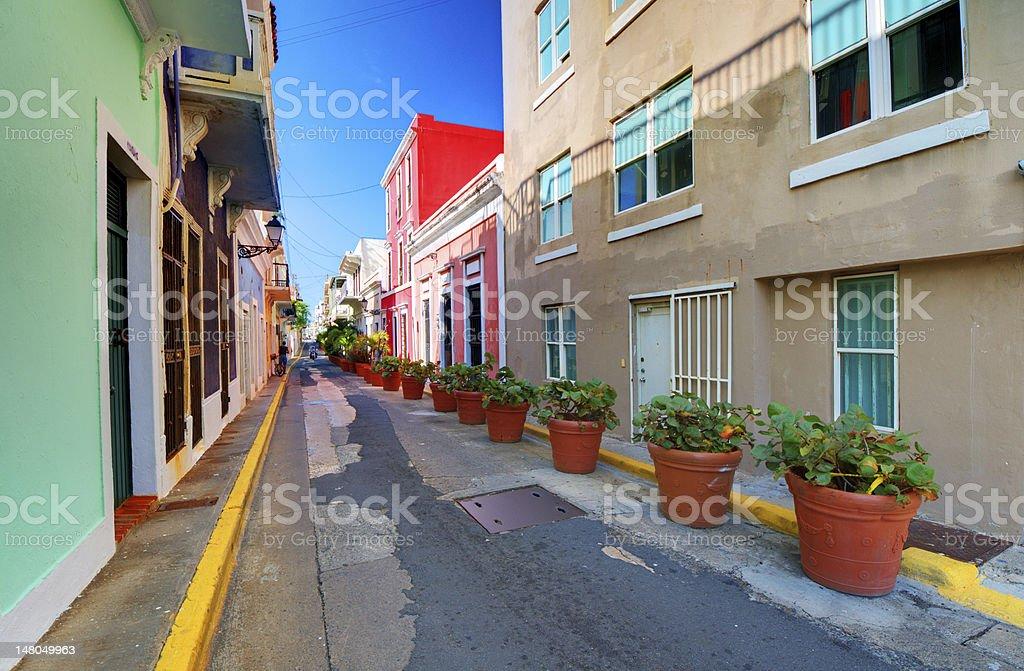 Old City of San Juan stock photo