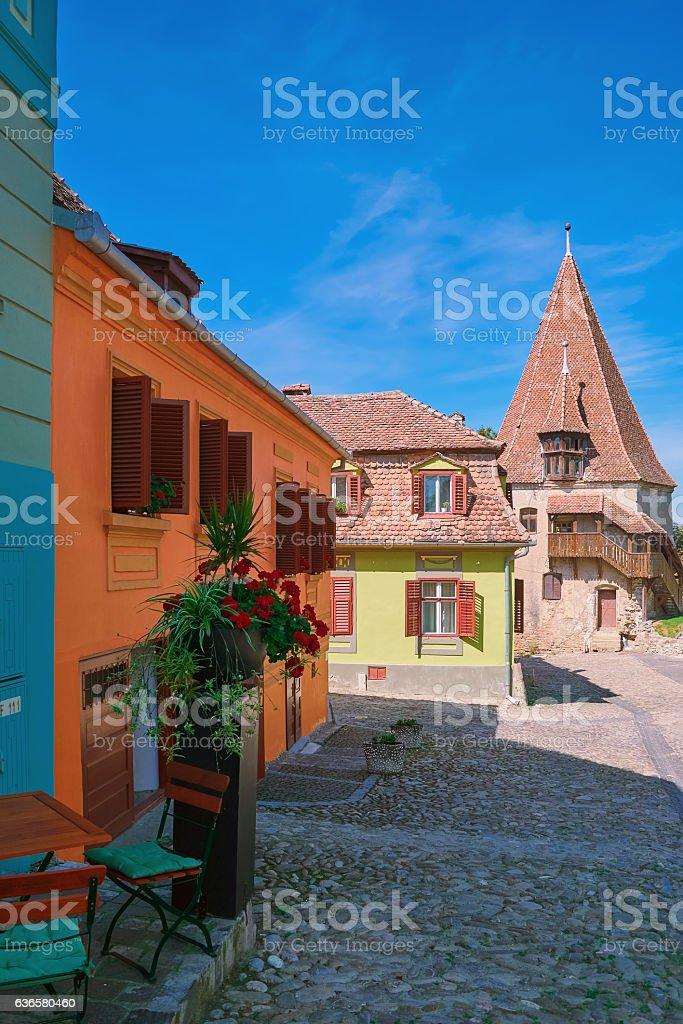 Old City of Sigisoara stock photo