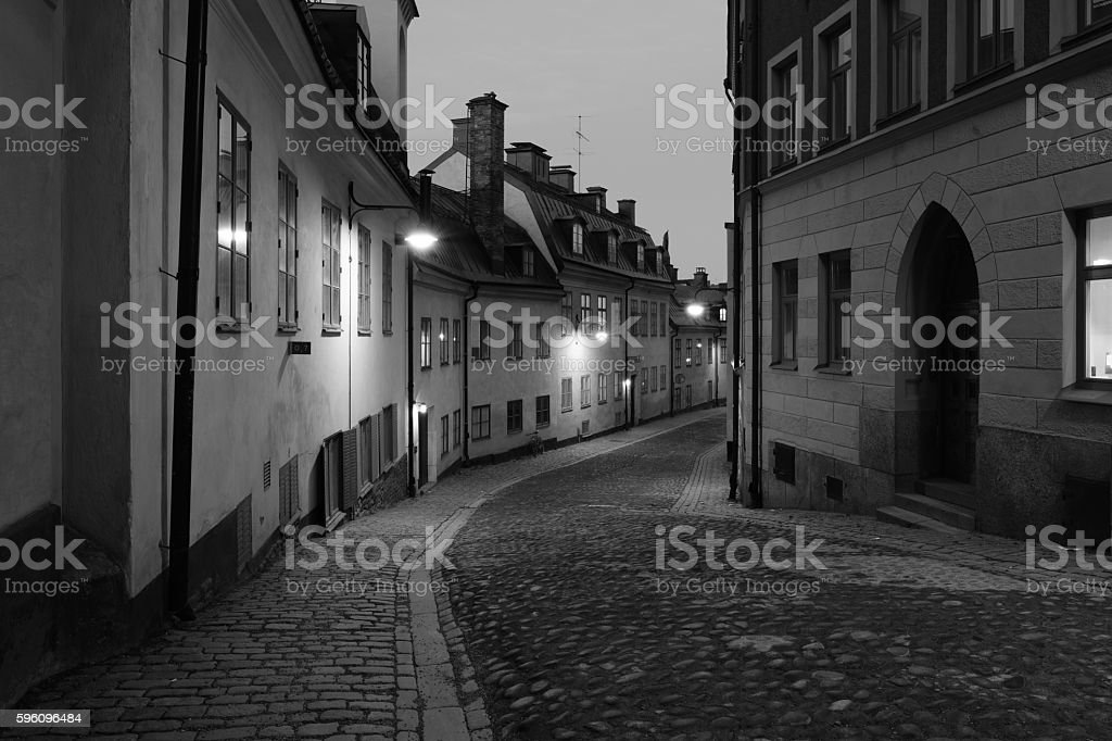 Old city street royalty-free stock photo