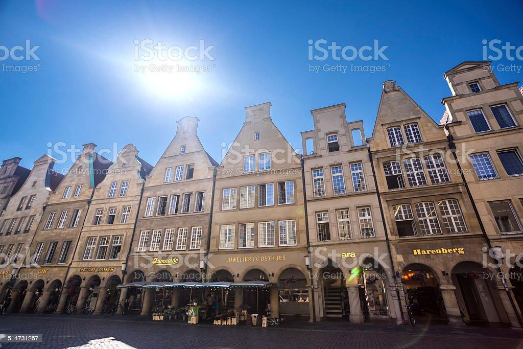 Old city street- Prinzipalmarkt in Münster /Germany stock photo
