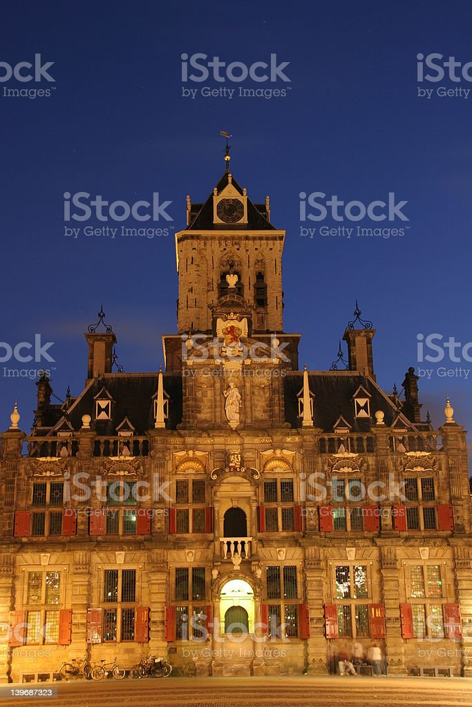 Old City Town, Delft, Netherlands royalty-free stock photo