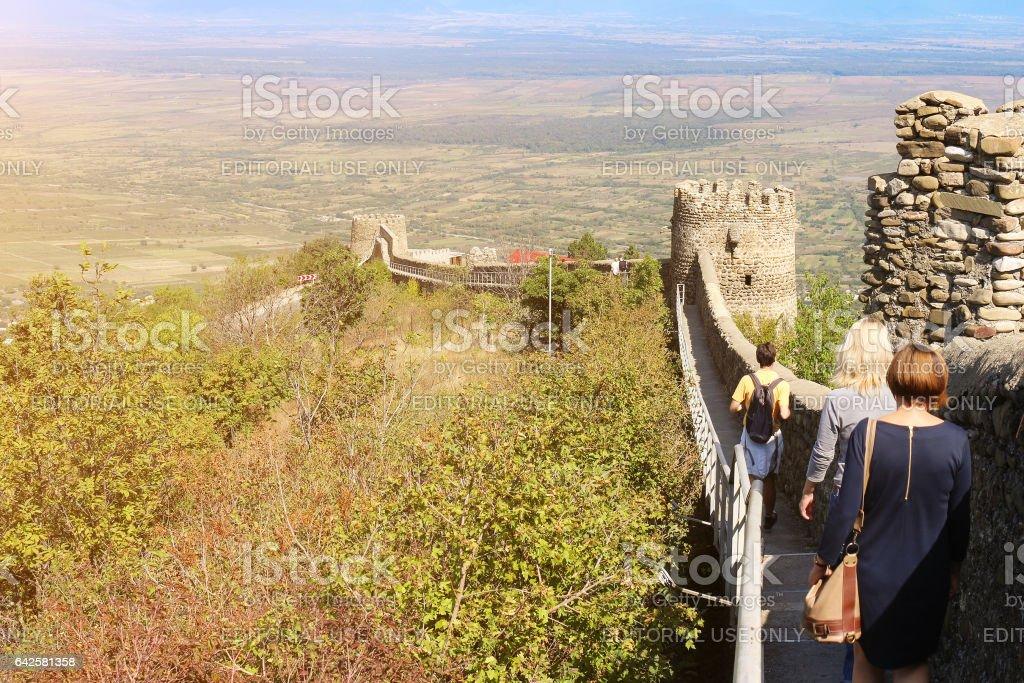 Old city walls in Georgia stock photo