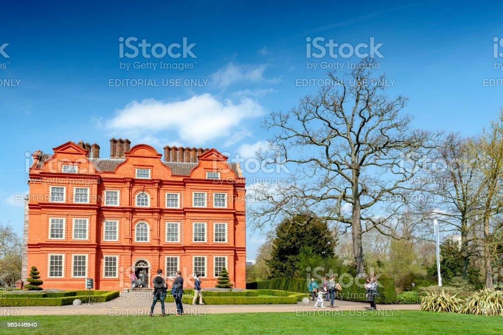 Ancien bâtiment classique de la Dutch House, l'un des rares survivants parties du complexe Kew Palace, situé à Kew Gardens, sur les rives de la Tamise jusqu'à la rivière de Londres - Photo de Angleterre libre de droits