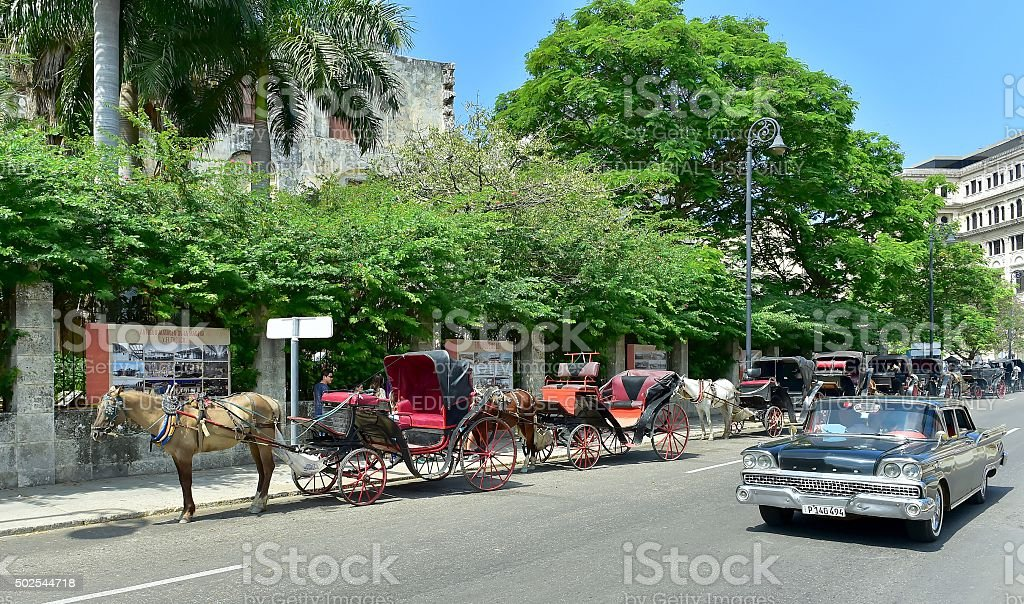 Old Classic Cars Used As A Taxis In Havana Stock Photo & More ...