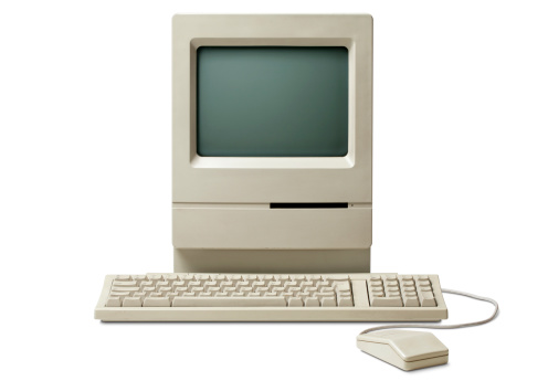 Old classic computer. Photo with clipping path. Some similar pictures from my portfolio: