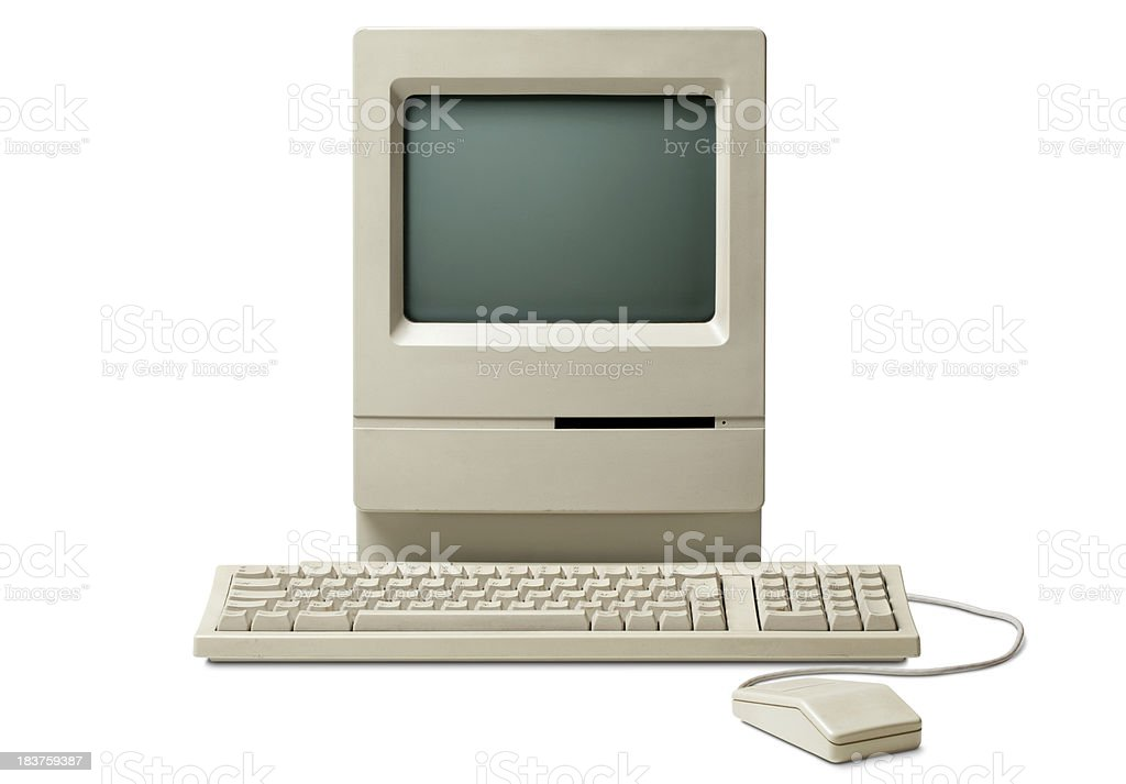 Old classic computer stock photo