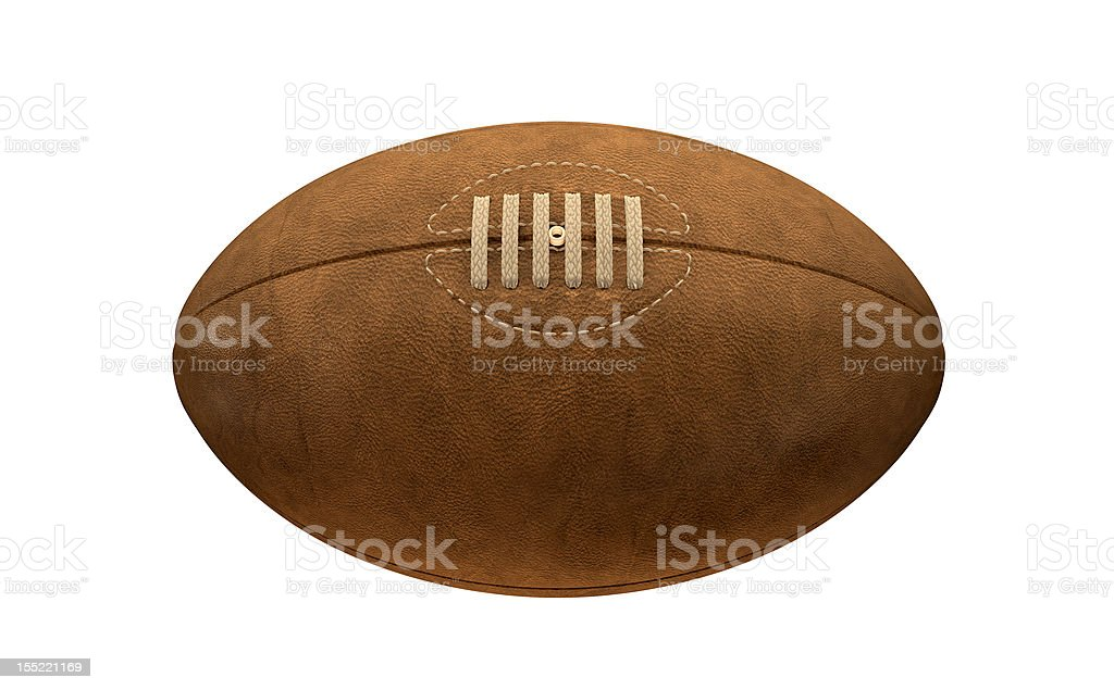 Old Classic Retro Rugby Ball stock photo