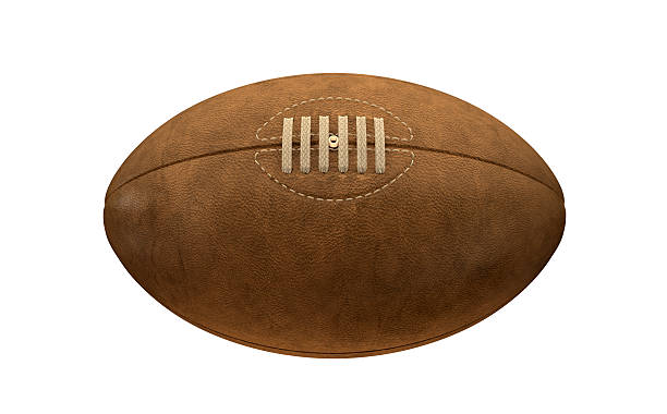 old classic retro rugby ball - rugby ball stock photos and pictures