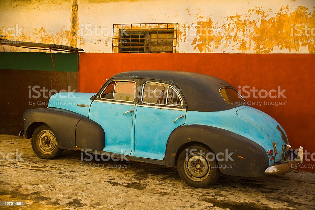 old classic vintage cuban car royalty-free stock photo