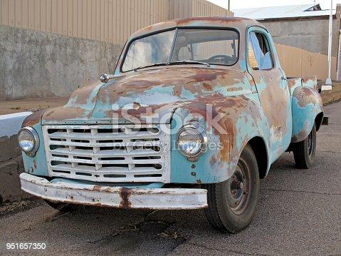istock Old classic vintage truck in Arizona, USA 951657350