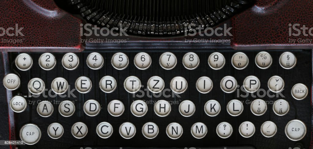 Old Classical Typewriter Machine Keyboard Stock Photo More