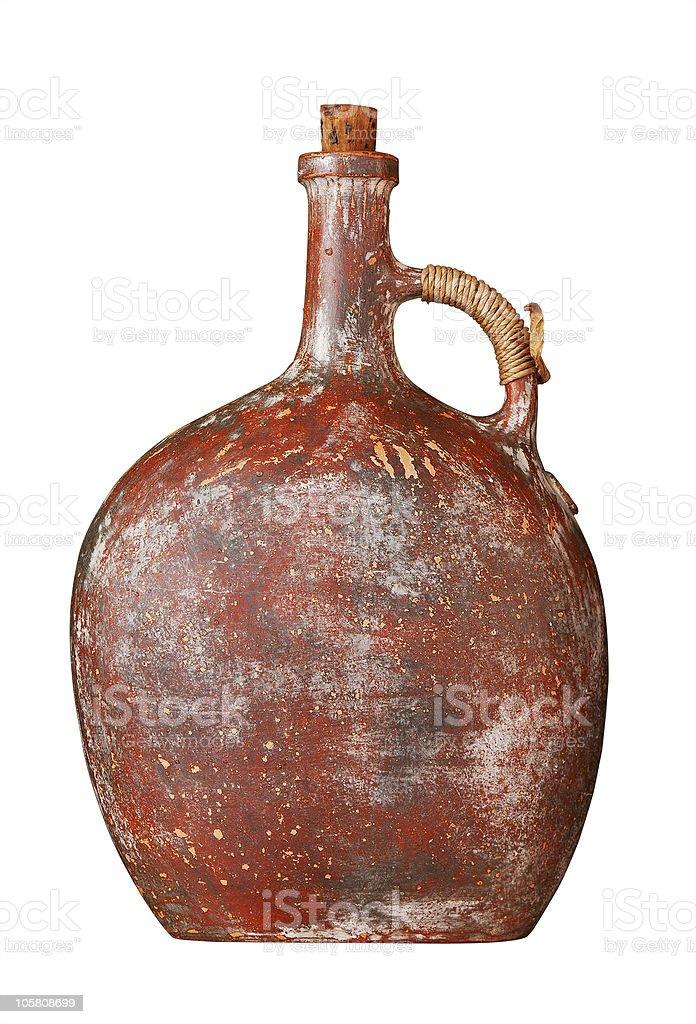 Old clay jug royalty-free stock photo