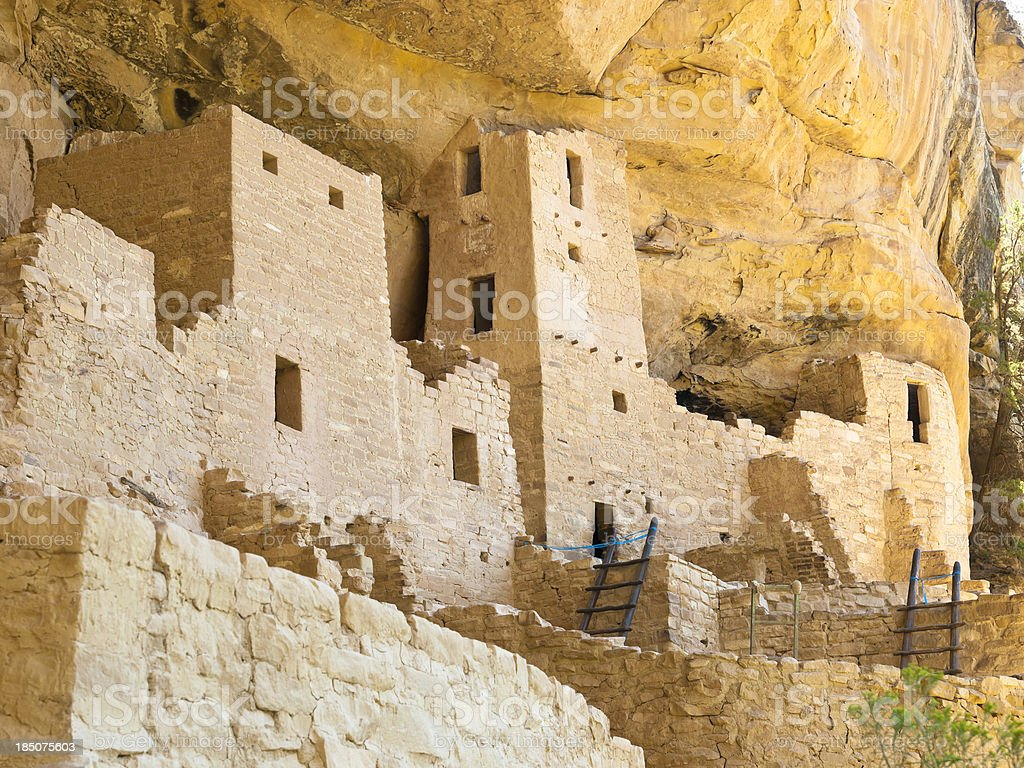 Old cliff palace ruins on display stock photo