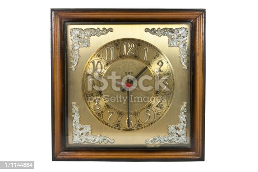 671883446 istock photo old clock, cut out on white background 171144884