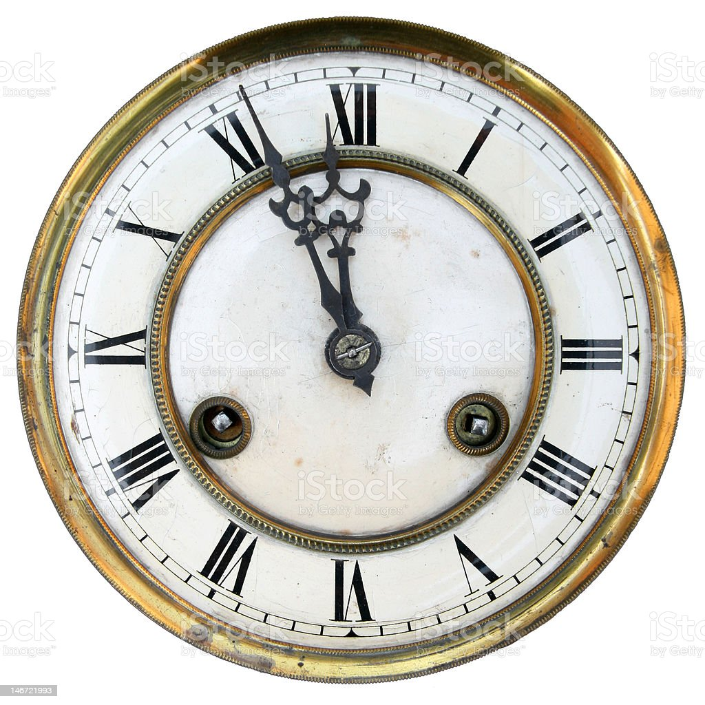 Old clock face isolated royalty-free stock photo