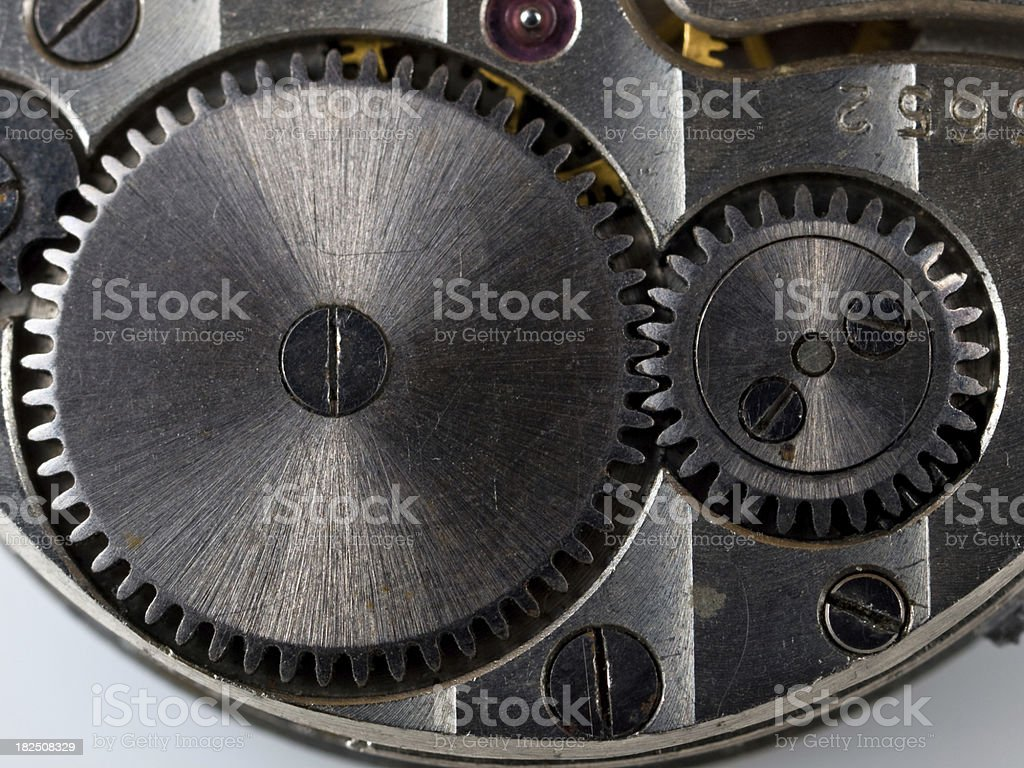 old clock gear macro royalty-free stock photo