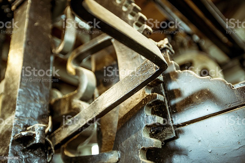 Old clock gears royalty-free stock photo