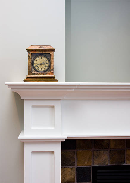 Old Clock on Mantlepiece