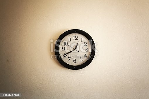 istock Old Clock on Wall 1160747601