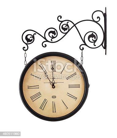 istock Old clock 492511960