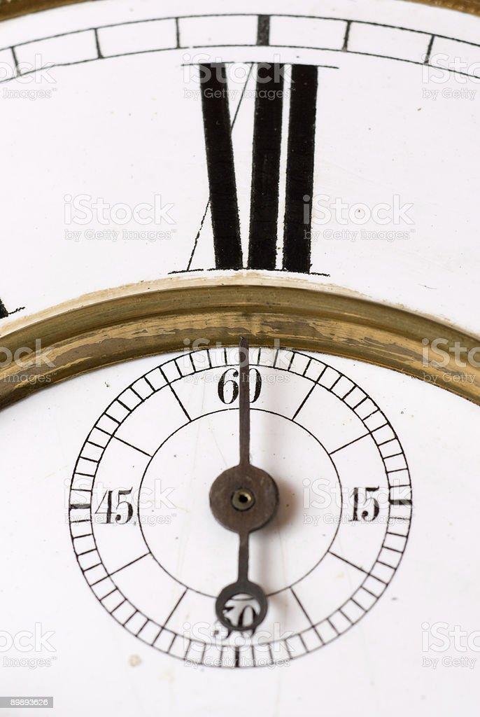 Old clock. royalty-free stock photo